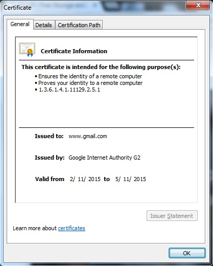 Certificate Home